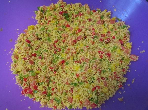 Табуле - салат из крупы и овощей с зеленью